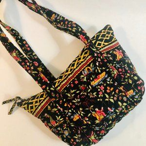 Vera Bradley Shoulder Bag Rare Oriental Print VERA